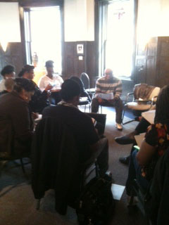National Poetry Month reading in Detroit, Randall teaching a workshop