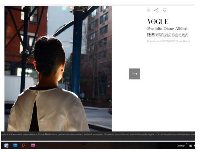 Vogue Italia spread Diane Allford